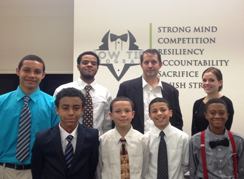 Attorneys Jeff Worley and Jolee Van Horn host a Bow Tie tour for local teens.
