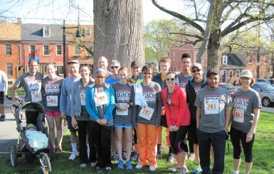 Some of the members of Team GKH pose before the 2014 Race Against Racism.