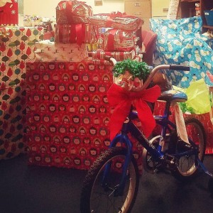 Gift baskets for children living at TLC